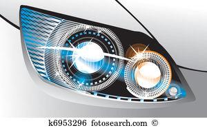 Headlight Clip Art Illustrations. 2,691 headlight clipart EPS.