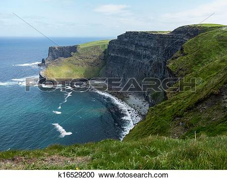 Stock Photography of Headland at Cliffs of Moher k16529200.