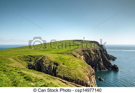 Stock Photo of Headland on the Mull of Galloway.