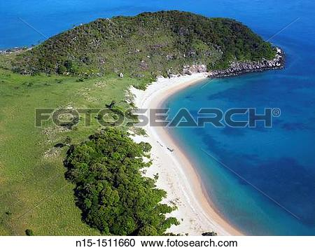 Stock Photography of Beach and headland on the remote western.