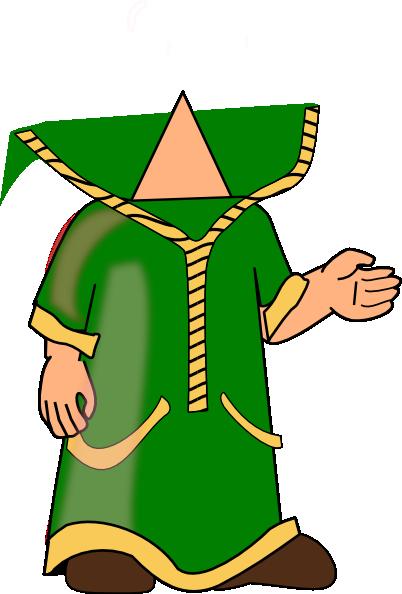 Wizard Green Headless Clip Art at Clker.com.