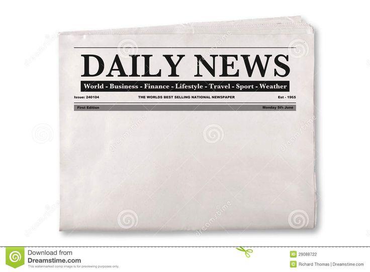 Newspaper headline clipart.
