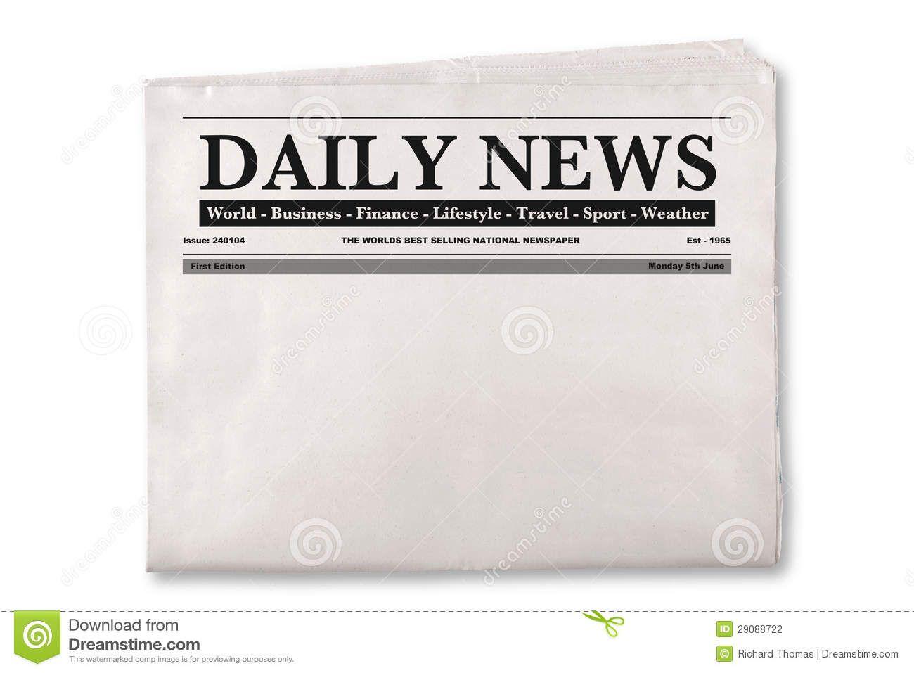 printable newspaper headline clipart.