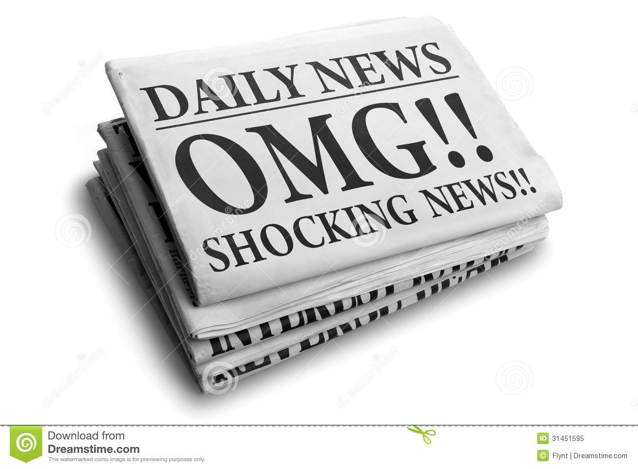 Newspaper Headlines Clip Art.