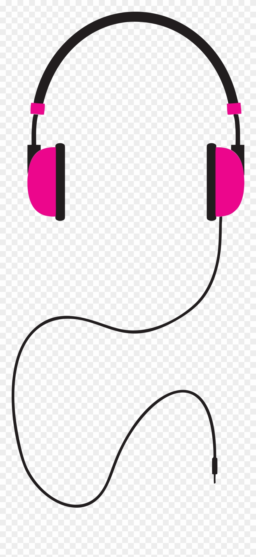 Headphones With Cord Clip Art.