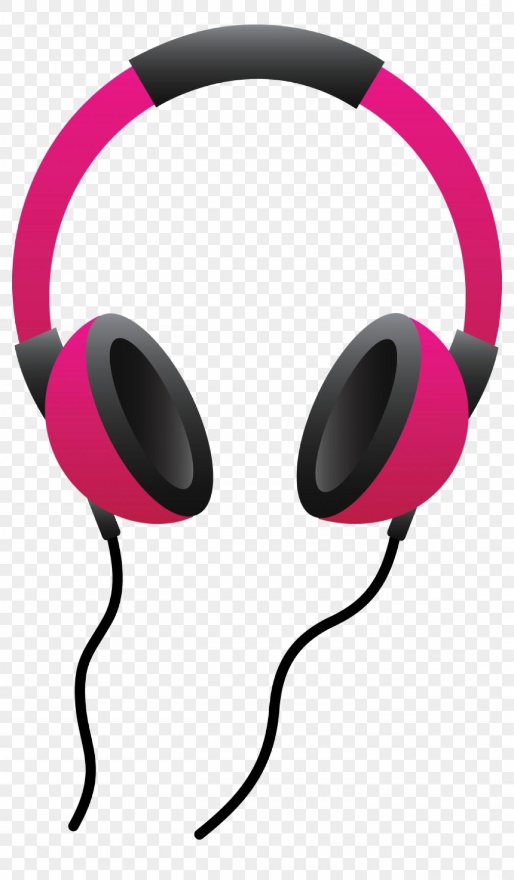 Miizikiaipod Clip Art Pink Headphones Clipart.