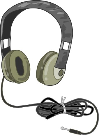 Computer headphone clipart.