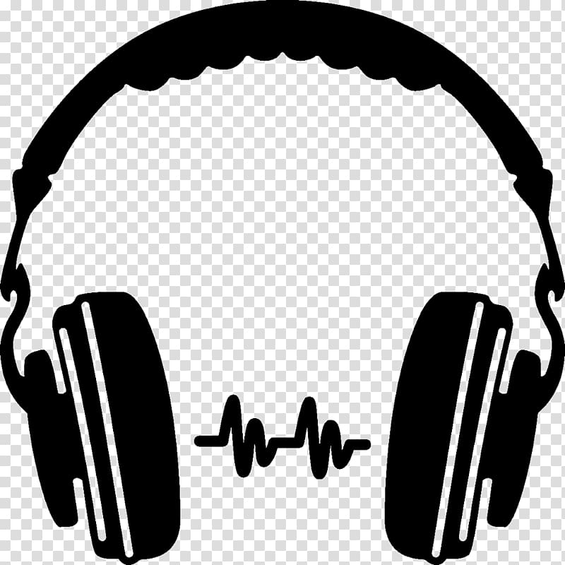 Headphones Silhouette , headphones transparent background.
