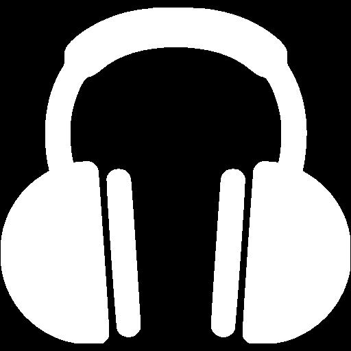 White headphones icon.