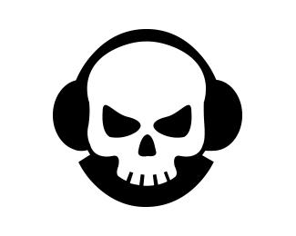 Skull Headphones Brand logo Designed by.