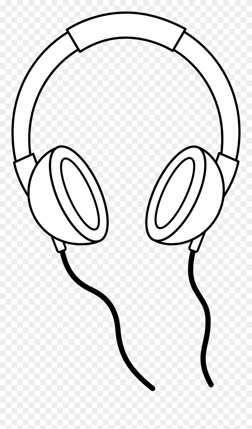 Headphones Line Art.
