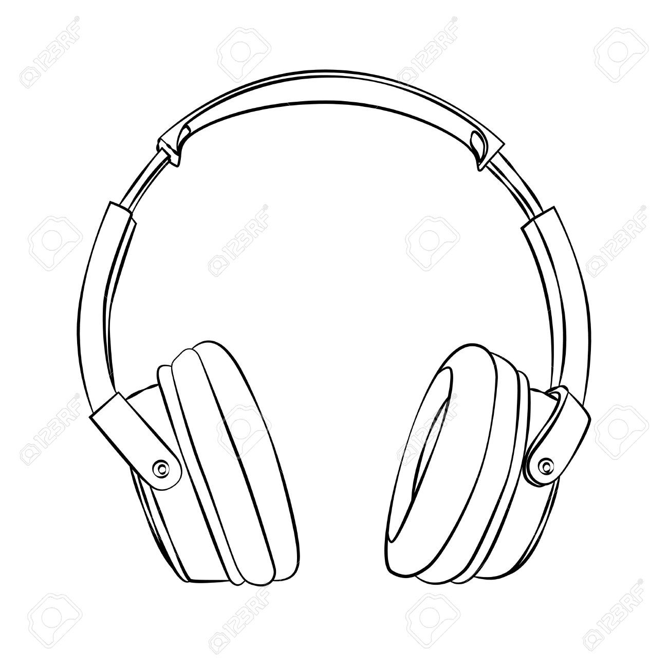 Headphone clipart black and white 3 » Clipart Portal.
