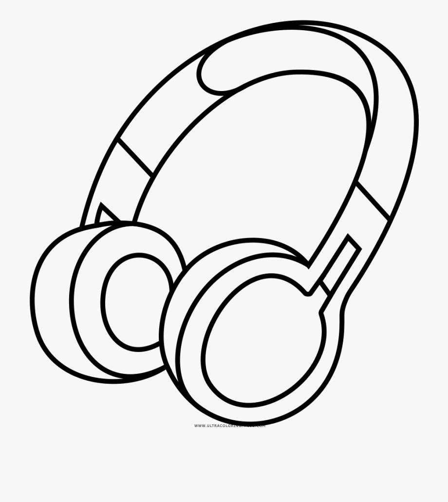 Drawing Headphones Clip Art Transparent Library.