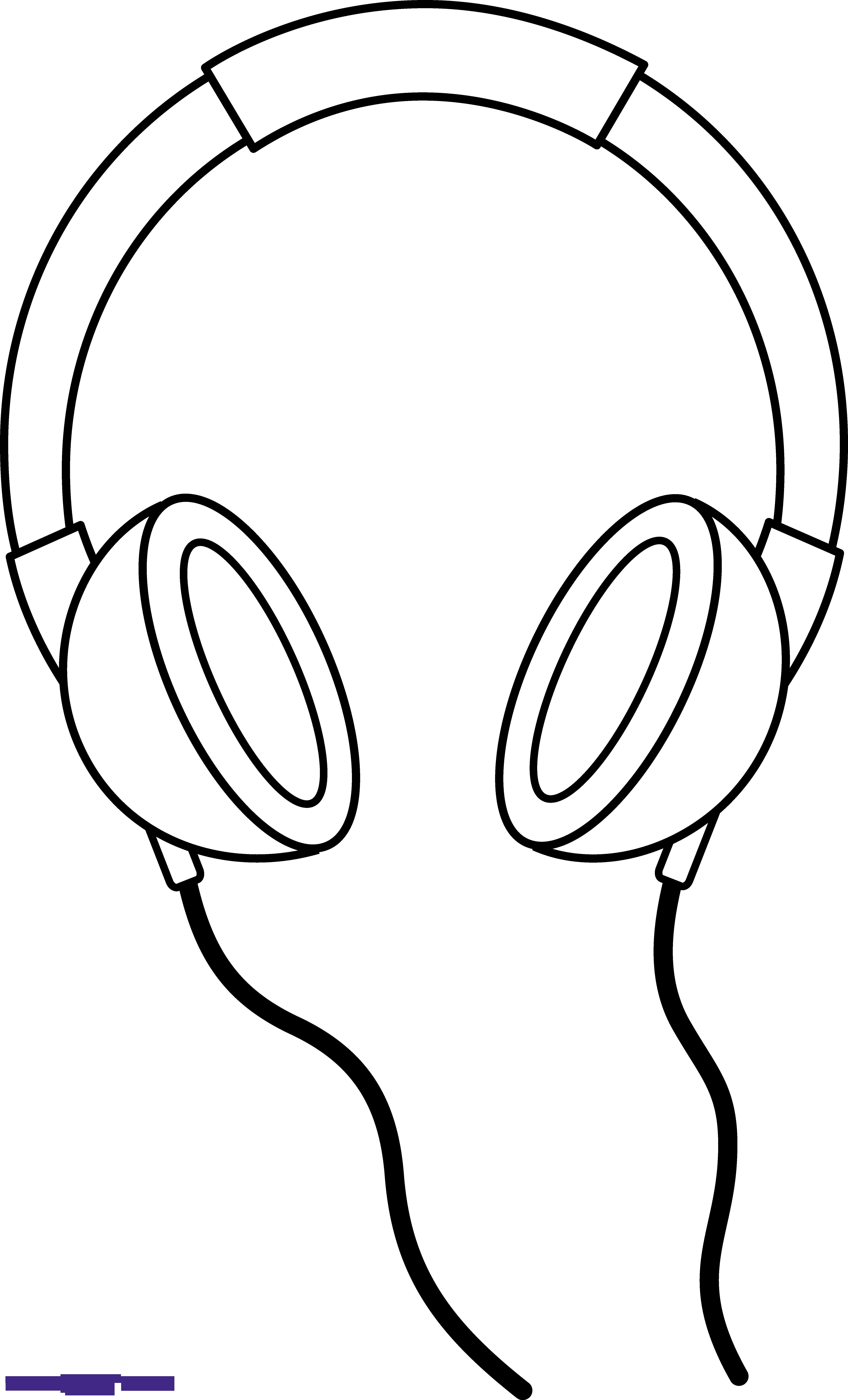 Headphones Line Art Clipart.