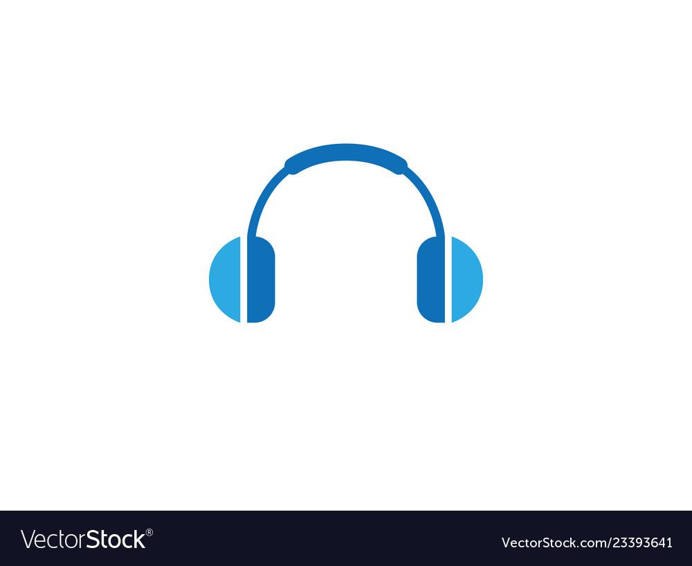 Headphones headset logo.