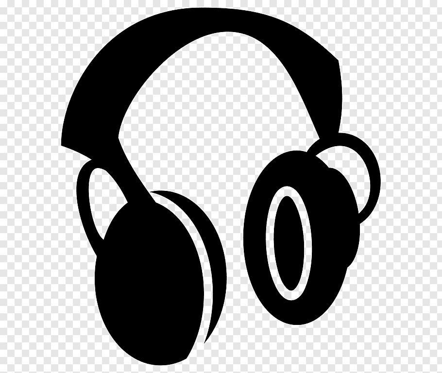 Black headphones graphic art, Headphones Computer Icons.