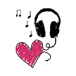 music love headphones.