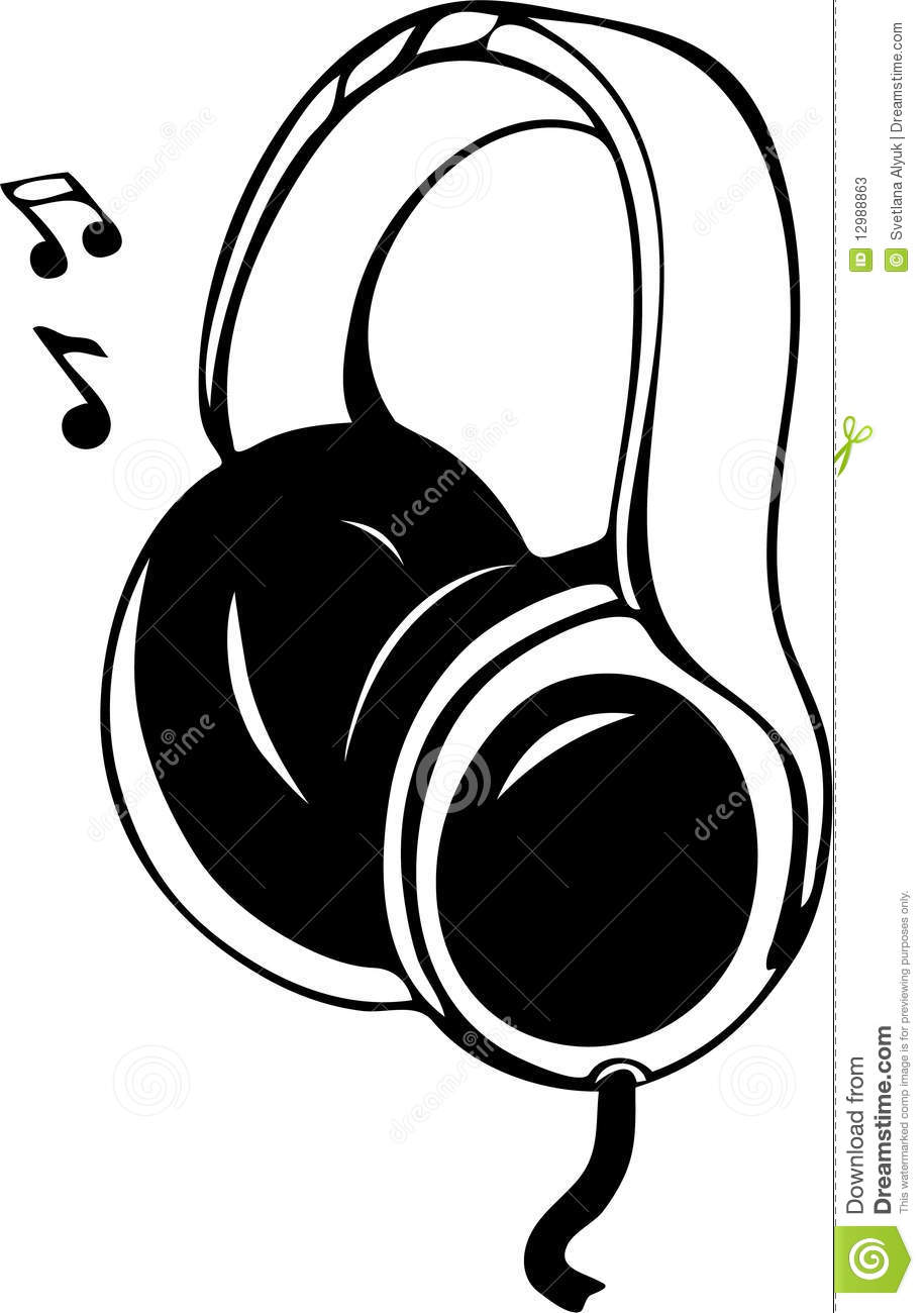 Headphones And Music Vector Stock Photos.