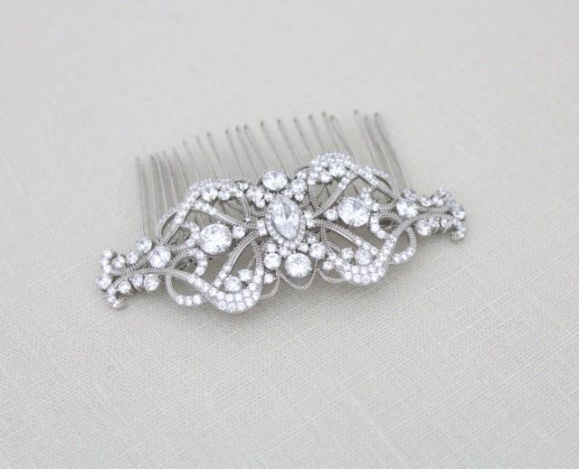 Bridal Hair Comb, Wedding Headpiece, Wedding Hair Clip, Art Deco.
