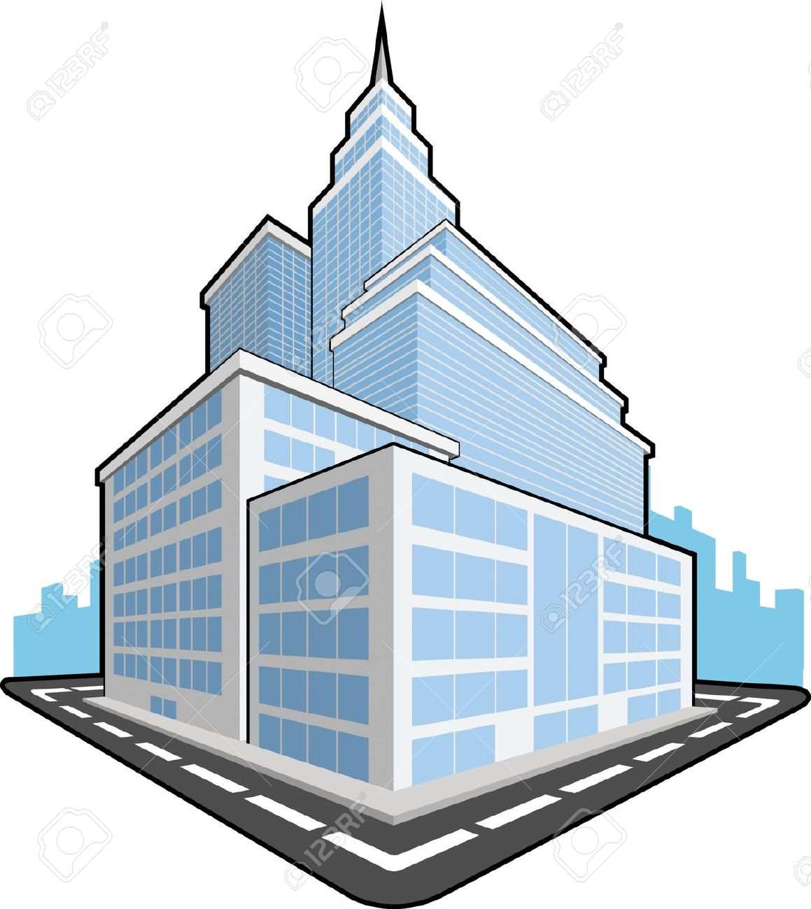 Corporation Building Clipart.