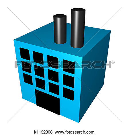 Clipart of Office Building k2039561.