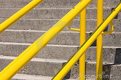 Yellow Handrail Stock Photography.