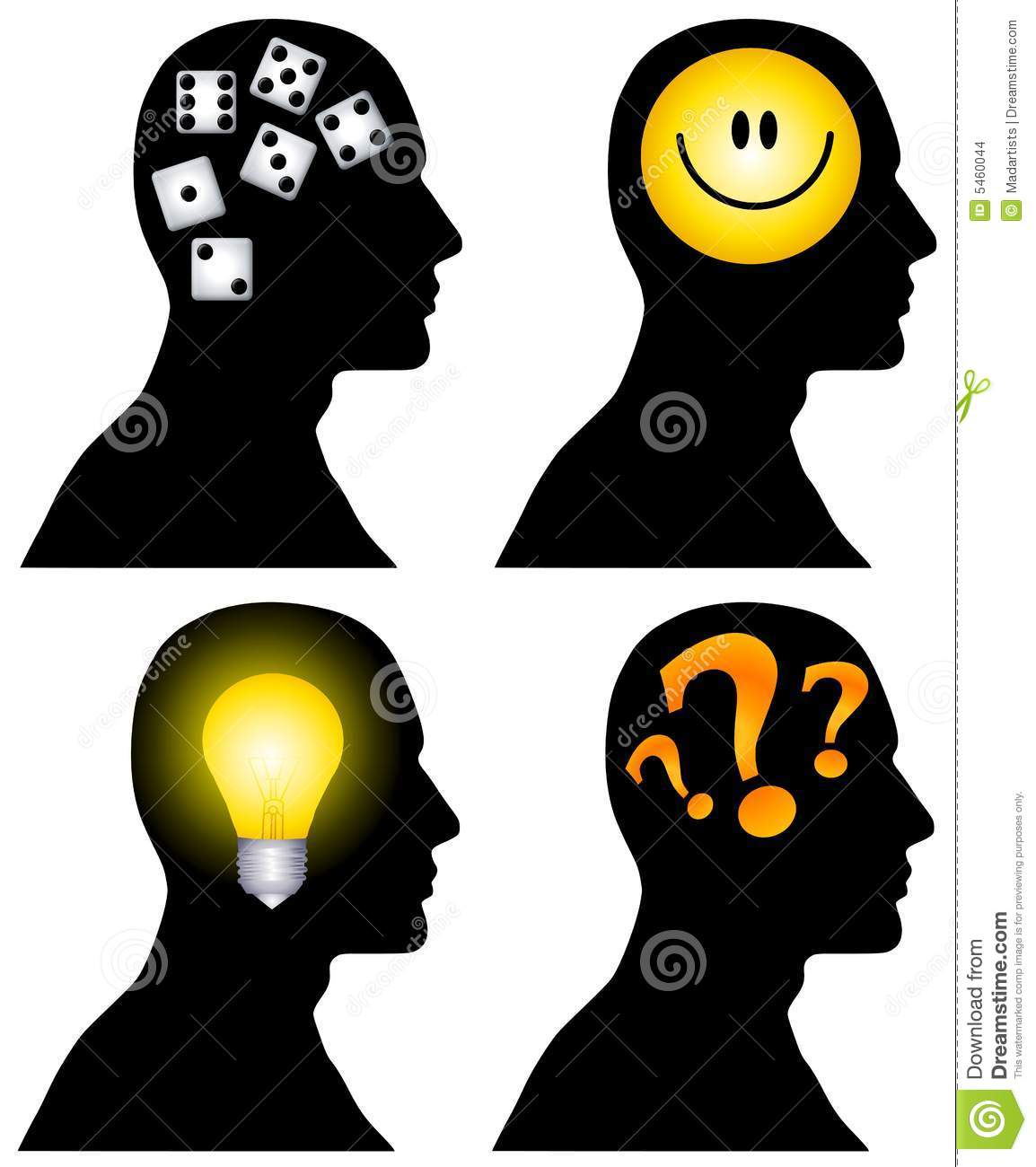 Head Silhouettes Clip Art Stock Images.