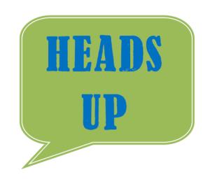 A Heads Up.