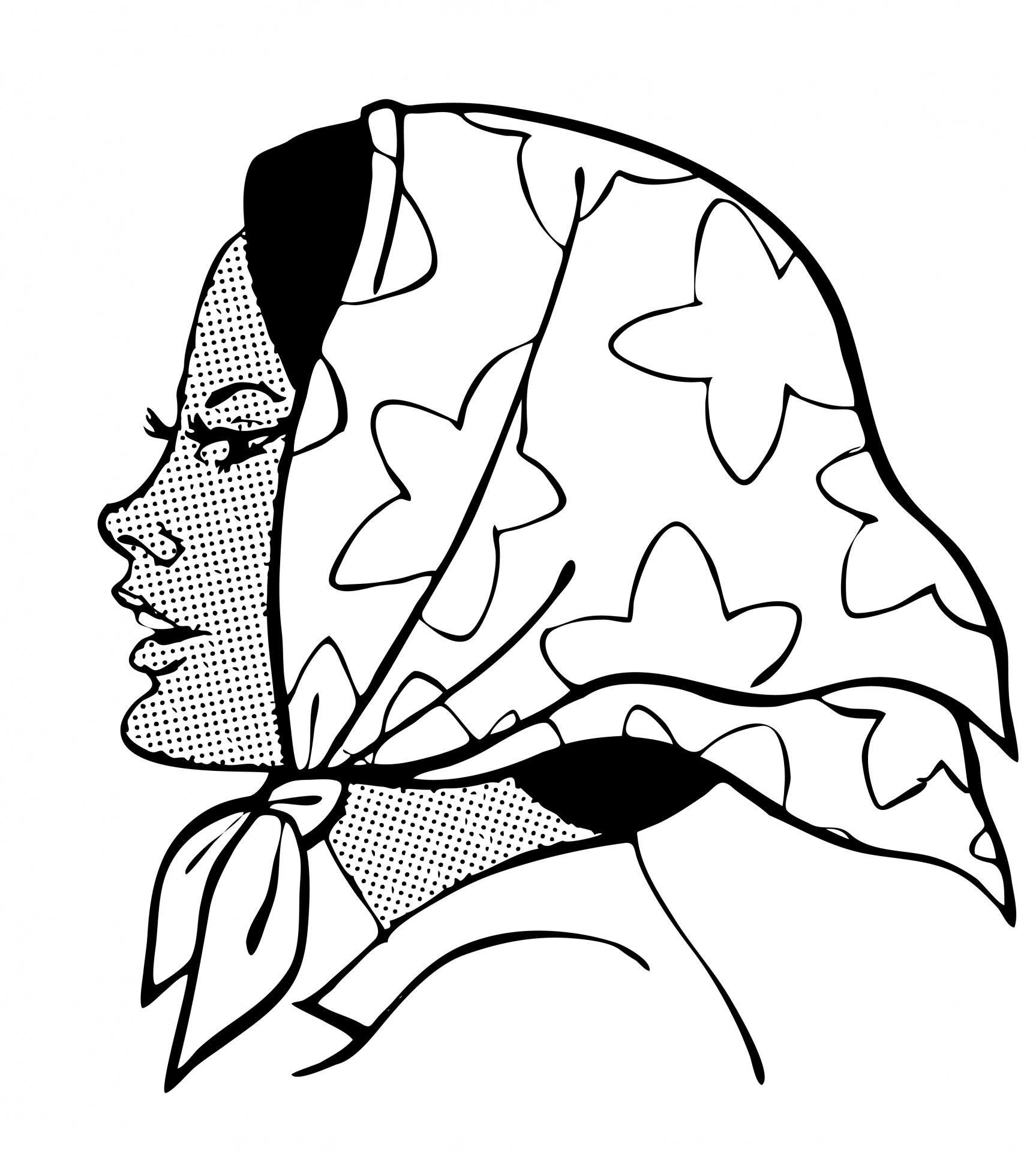 Head scarf clipart.