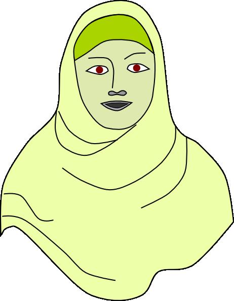 Islamic Hijab Vail Headscarf clip art Free Vector / 4Vector.