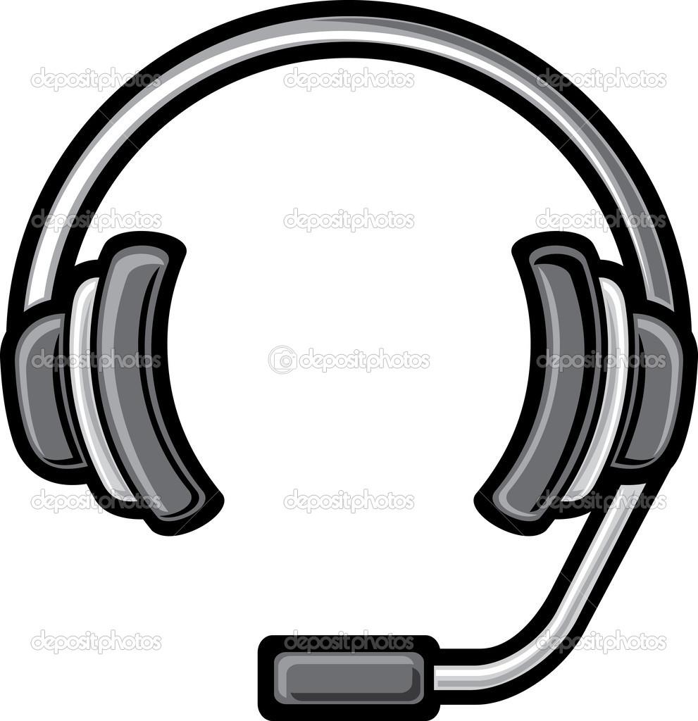 Call center headset clipart.
