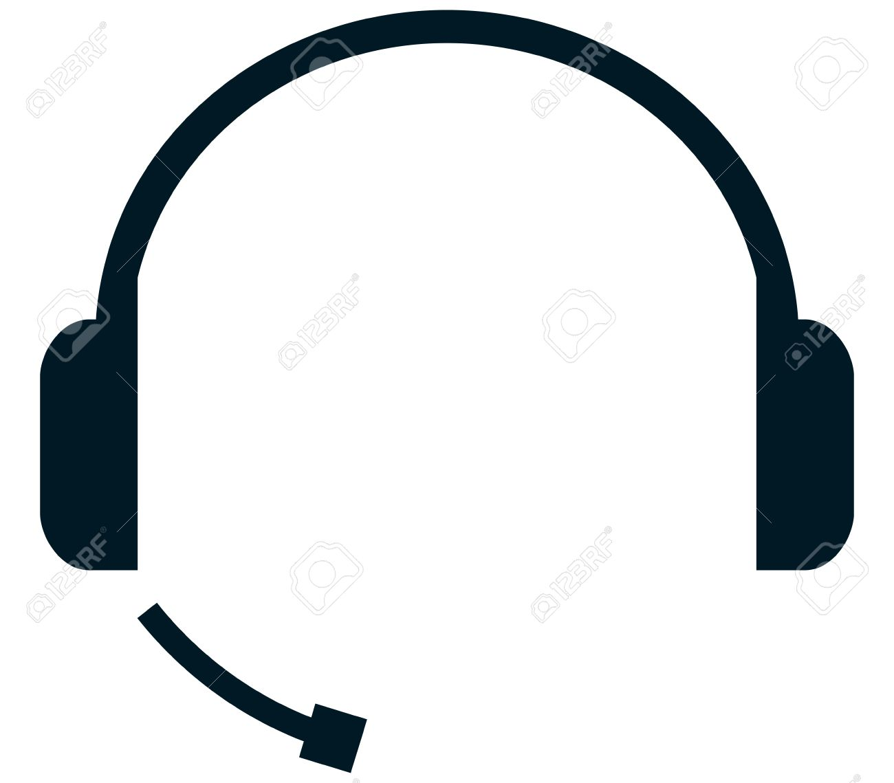 233 Headset free clipart.