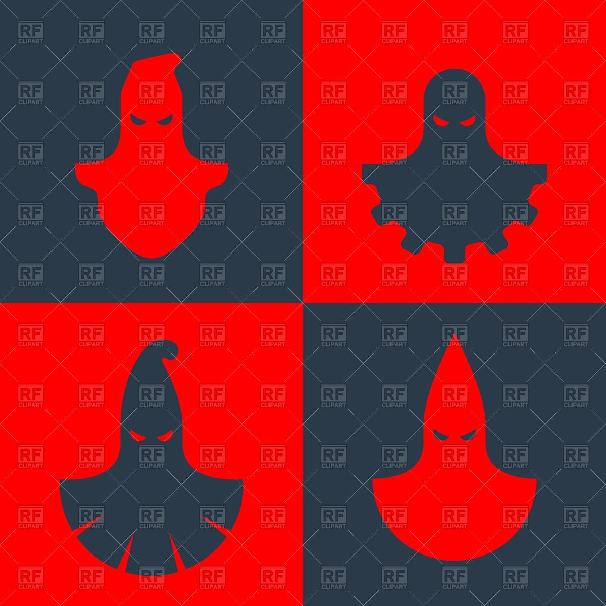 Executioner and Ku Klux KlanKu Klux Klan masks.
