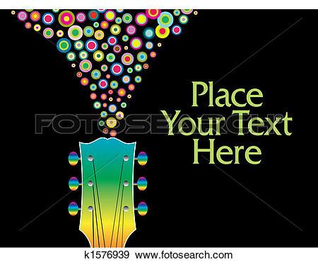 Clip Art of colorful guitar headstock k1576939.