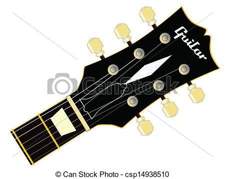 Vector Clip Art of Guitar Headstock.