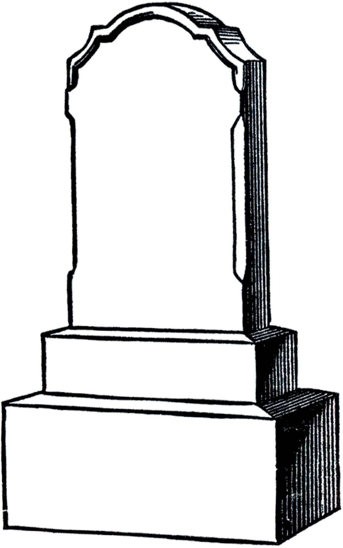 Headstone Clipart Outline.