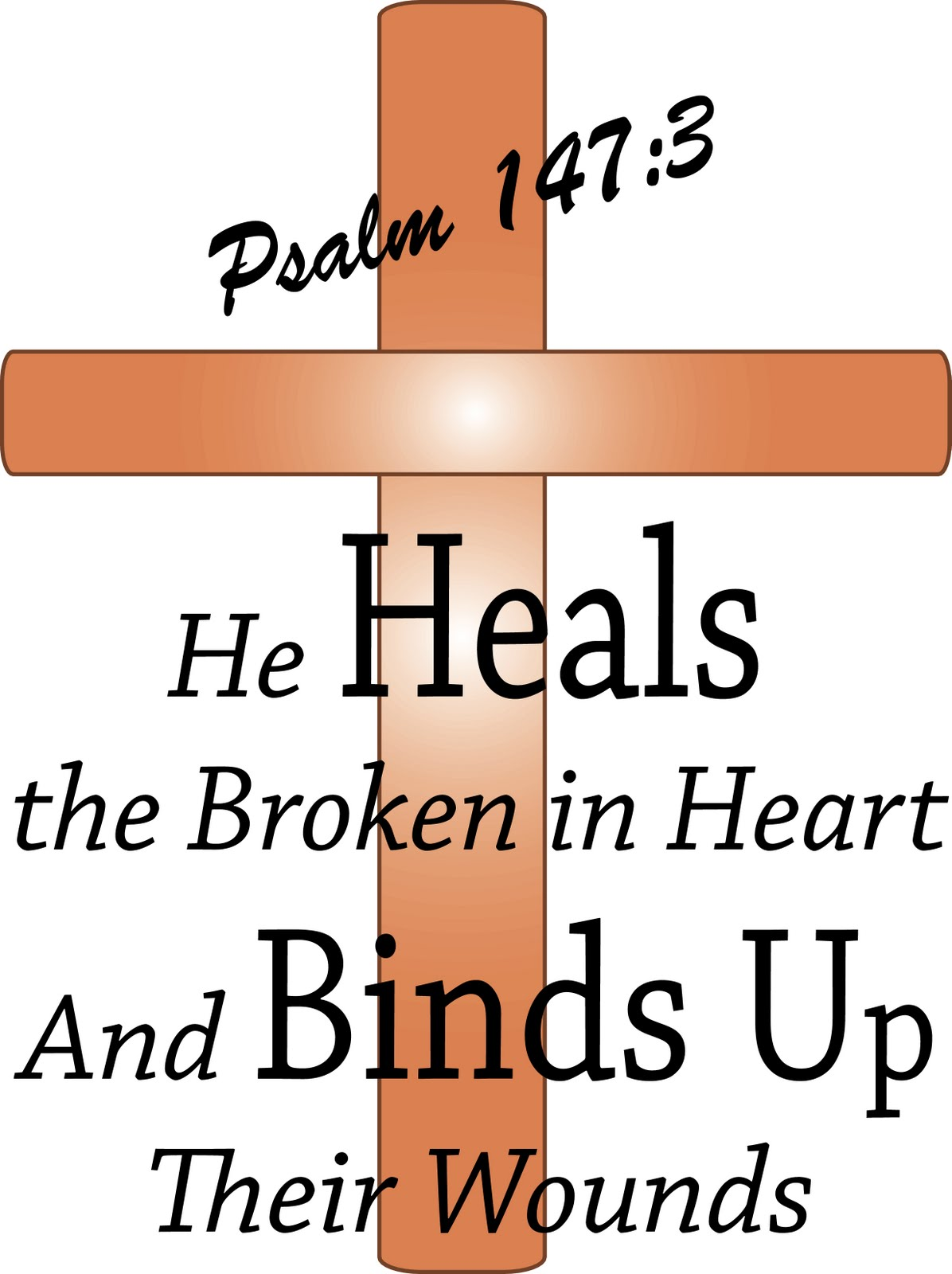 clipart of with a bible saying healing.