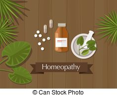 Vector Clipart of Herbal medicinal plants with healing effects.