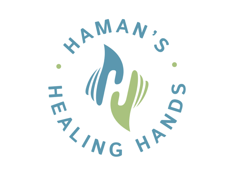 Haman\'s Healing Hands Logo by Justen Hong on Dribbble.