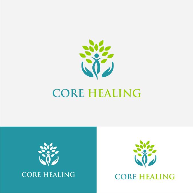 Design a abstract logo for a holistic healing center.