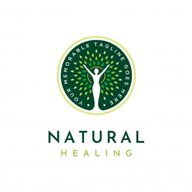 Natural healing logo Vector.