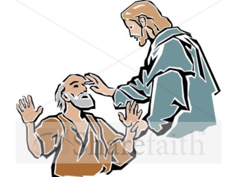 Jesus Healing Clipart.