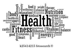 Health Fitness Clip Art Vectors.