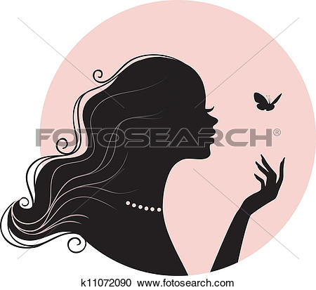 Clipart of woman face for spa, health, beauty k12412891.