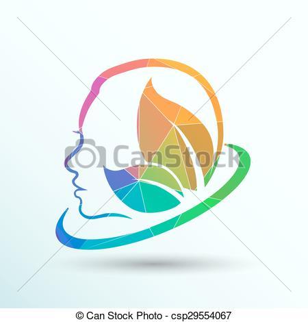 Clip Art Vector of women health, beauty and treatment symbols.