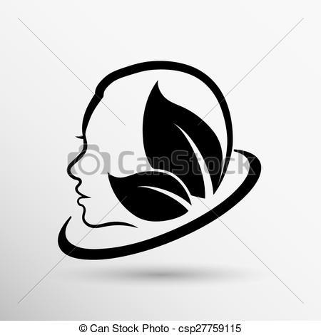 Vector Clip Art of women health, beauty and treatment symbols.