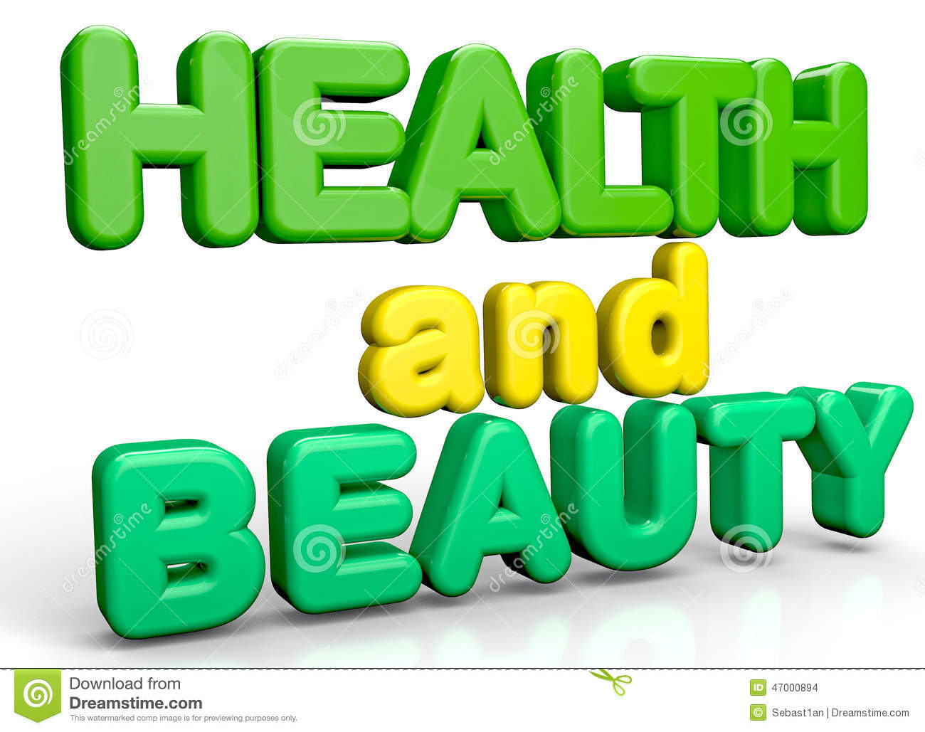 Health And Beauty Stock Illustration.