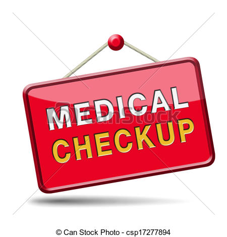 Clipart of medical health check up.