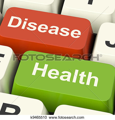 Stock Illustration of Health Check Laptop Shows Medical Condition.