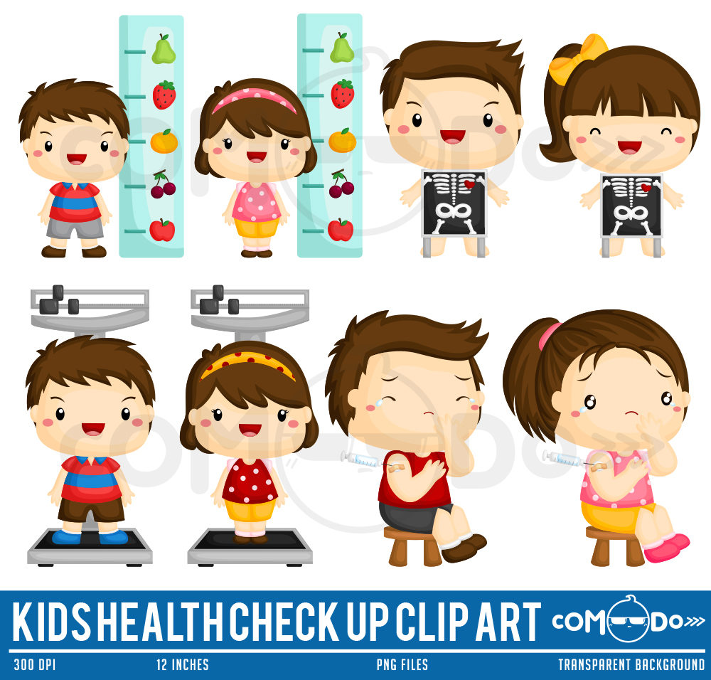 Kids Health Check Up Clipart Collection.